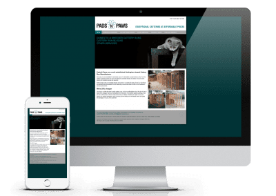 Pads-n-Paws Website – Design of brand identity & website