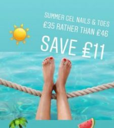 Save £11.00 on Summer Gel Nails & Toes